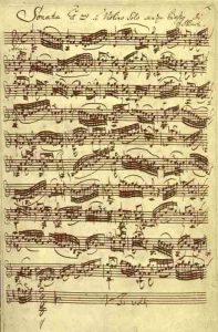 Bach, sonata per violino